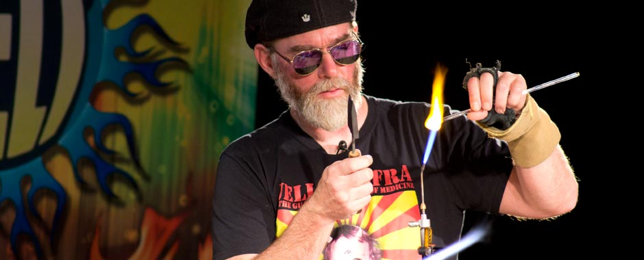 John Bridges Glassblowing demo
